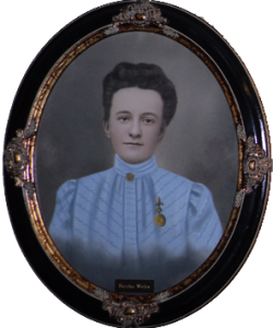 A portrait of Bertha Welty