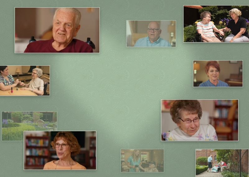 Images from Welty's promotional video float through space, evoking the feeling of fond memories and years gone by.